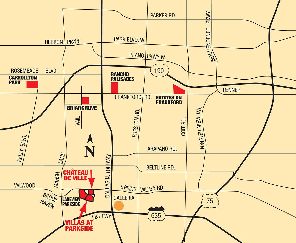 Map of Villas at Parkside