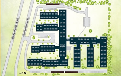 Site map for Hampton Woods in Columbus, Ohio
