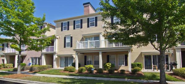 Exterior an apartment building at Atkins Circle in Charlotte, North Carolina
