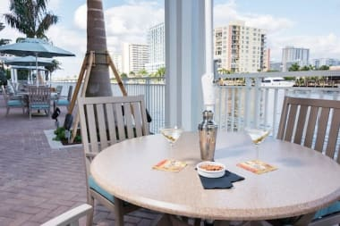 Enjoy drinks outdoor at The Meridian at Waterways in Fort Lauderdale, Florida.