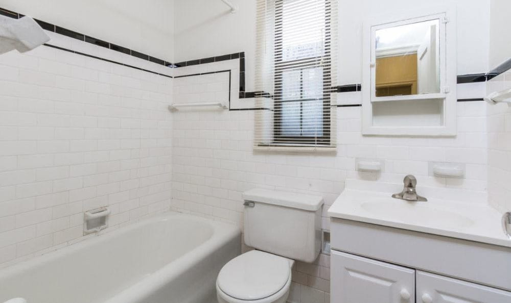Bathroom at Westminster Apartments in Rochester, New York
