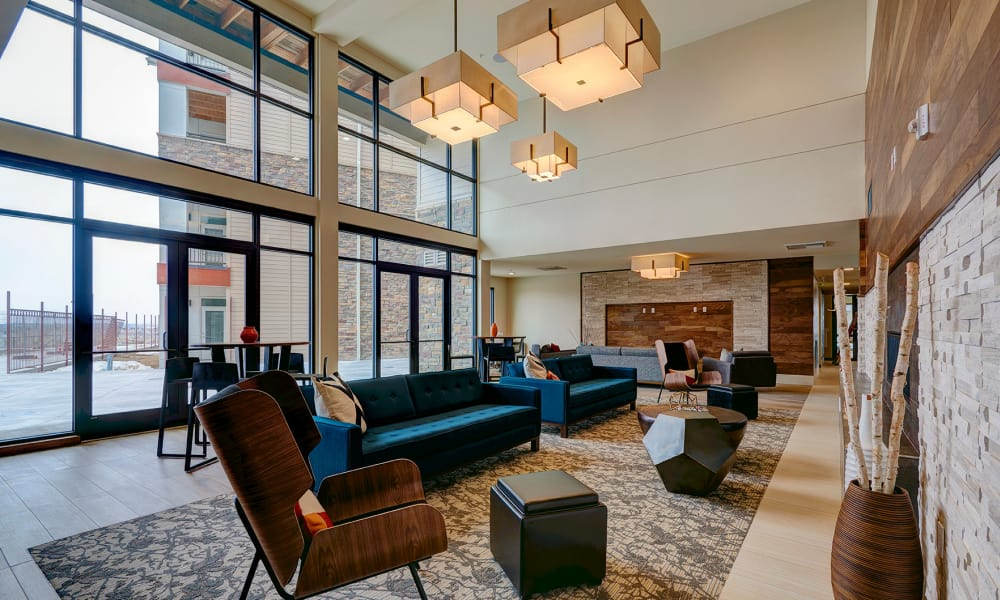 The lobby at The Brodie
