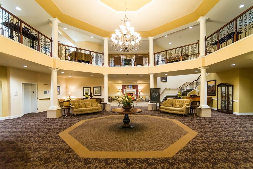 Lobby area at Touchmark on West Century in Bismarck, North Dakota