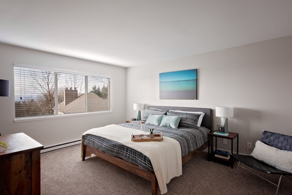 Spacious and elegant model bedroom at MiLO at Mountain Park