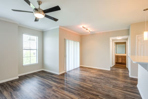 Spacious, light-filled floor plan in model home at West End at City Center in Lenexa