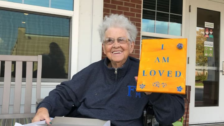 Memory care residents get messages of hope