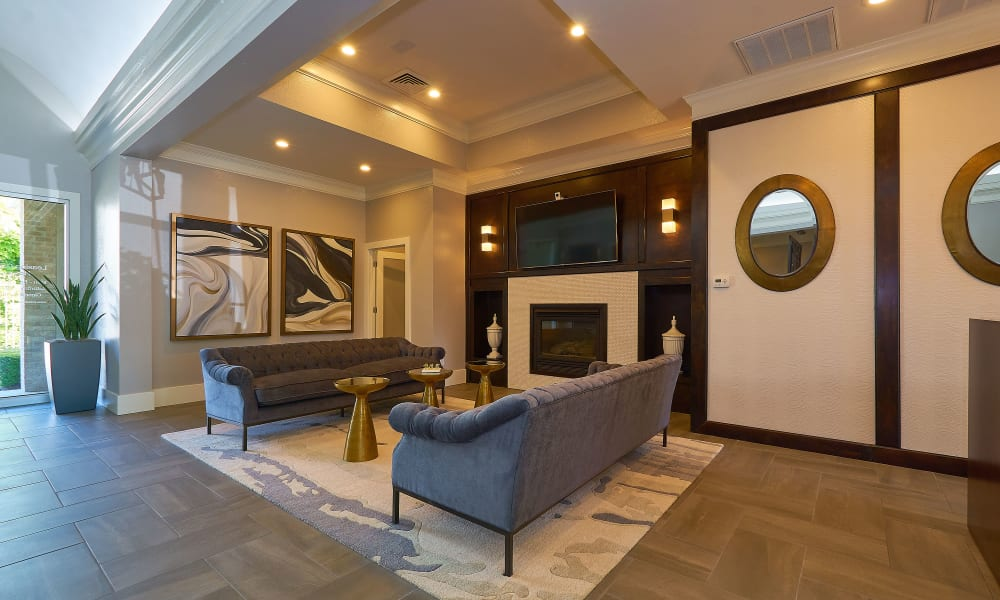 Interior of the Preston Hollow Apartments clubhouse
