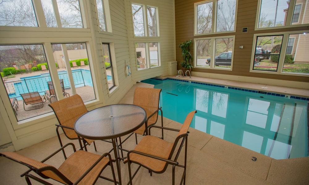 Indoor Pool at Creekwood Apartments in Tulsa, Oklahoma