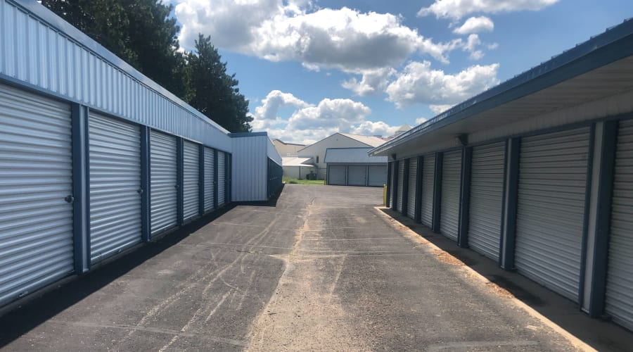 Exterior of outdoor units at KO Storage of Becker in Becker, Minnesota