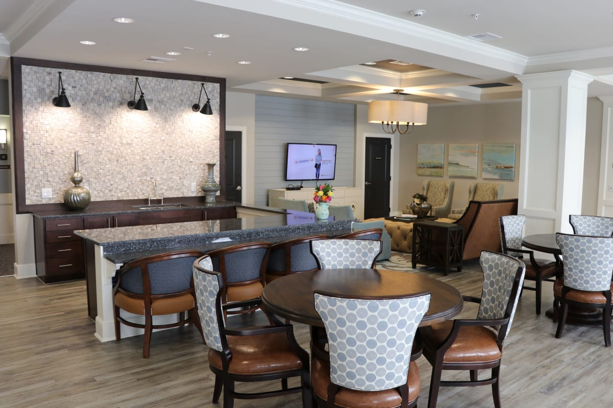 The lobby at Landing at Watermere Frisco in Frisco, Texas