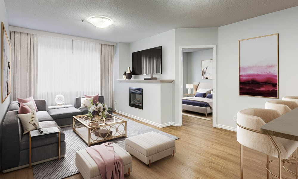 Living Room at Park Square | Apartments in Edmonton, Alberta