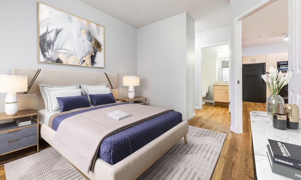 Bedroom at Park Square | Apartments in Edmonton, AB