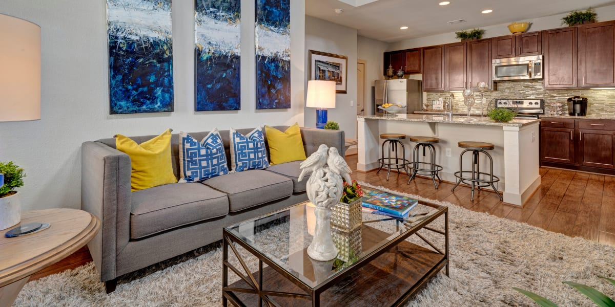 Luxury living room at Harbor Group Management in Norfolk, Virginia