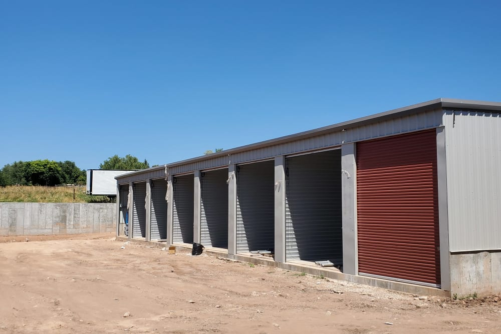 Exterior of the outdoor units at Layton Boat and RV Storage in Layton, Utah