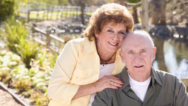 Senior woman with husband