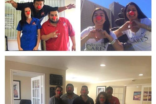 Green Meadows Apartments participates in red nose day