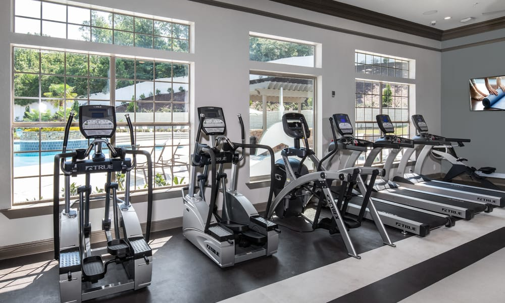 Our apartments in Tuscaloosa, Alabama showcase a large private gym
