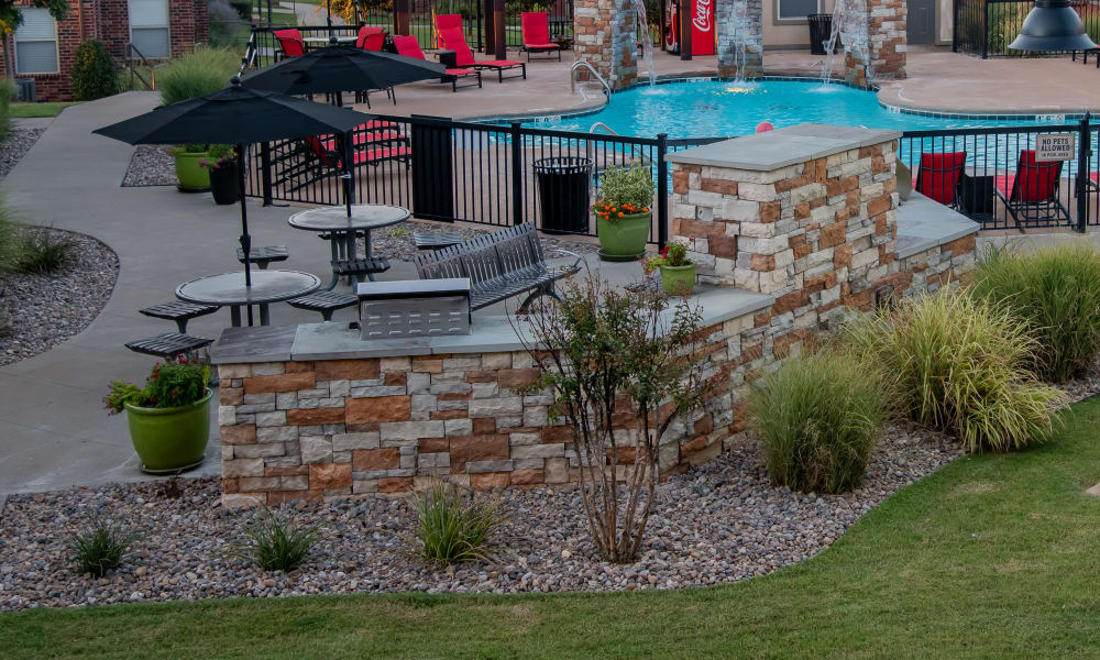 Outdoor patio at Icon at Norman in Norman, Oklahoma