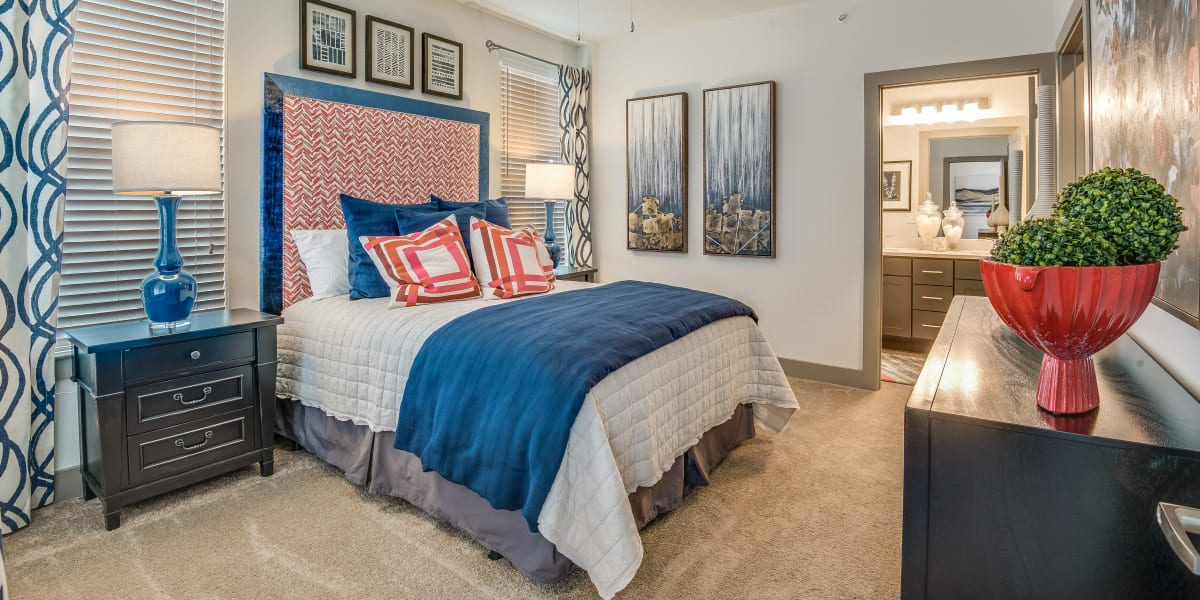 Master bedroom at Enclave at Woodland Lakes in Conroe, Texas