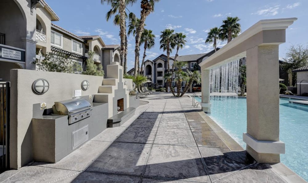 BBQ while you cool off in the pool at The Highlands at Spectrum in Gilbert, AZ