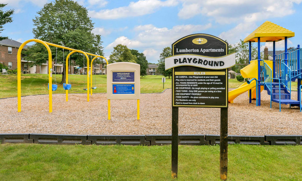 Beautiful playground at Lumberton Apartment Homes in Lumberton, NJ