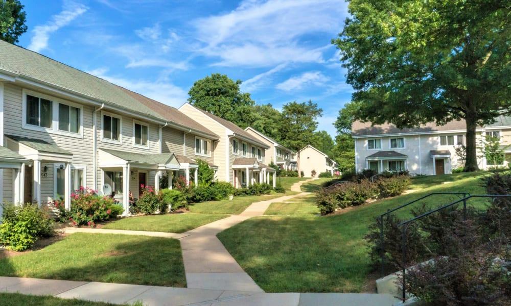Walking path at Stewartown Homes in Gaithersburg, Maryland