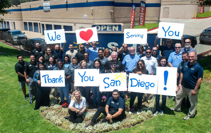 "Thank you for voting us San Diego's ""Best Storage Company"" four years straight!"