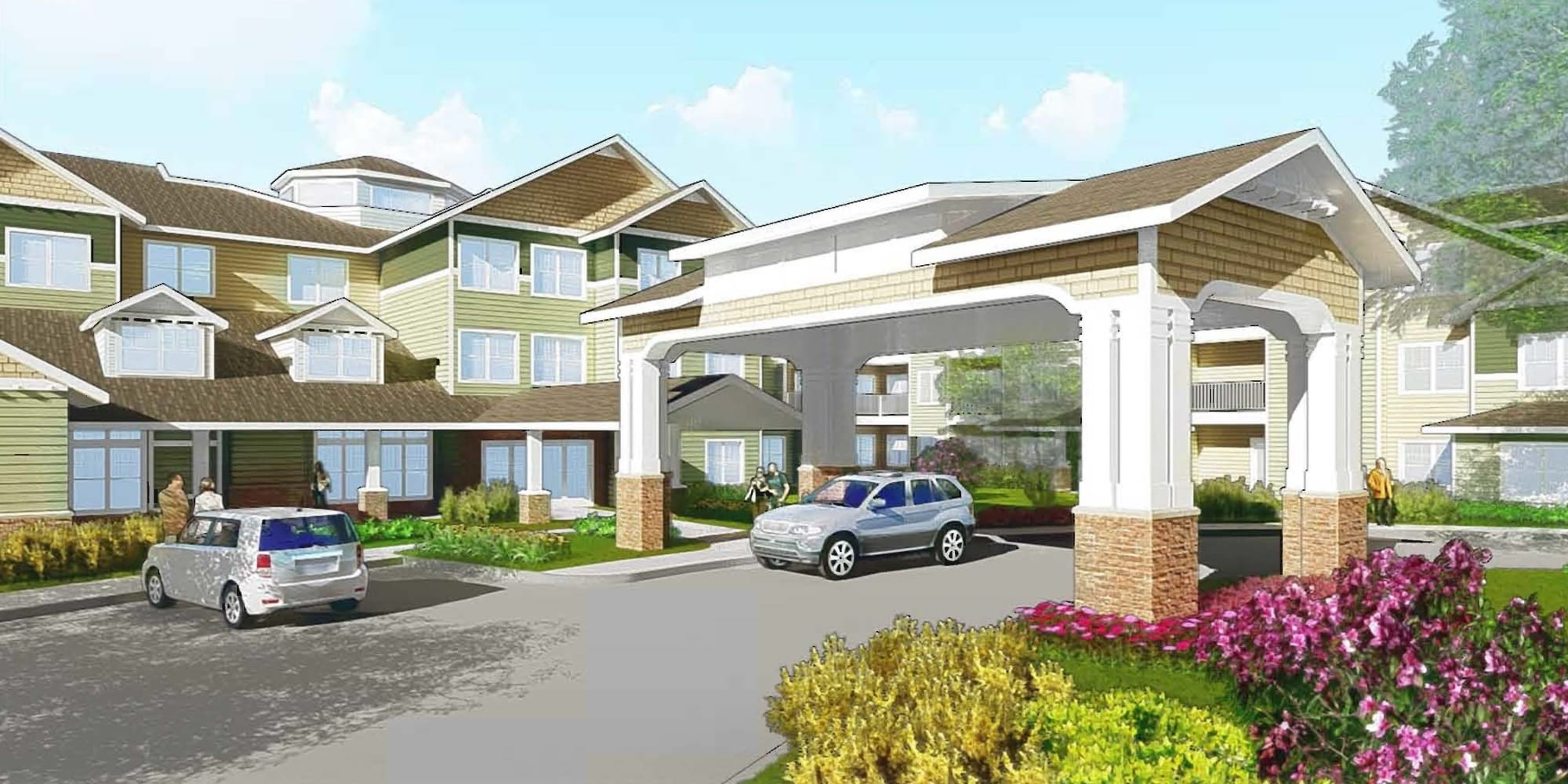 Rendering for Kennedy Meadows Gracious Retirement Living in North Billerica, Massachusetts