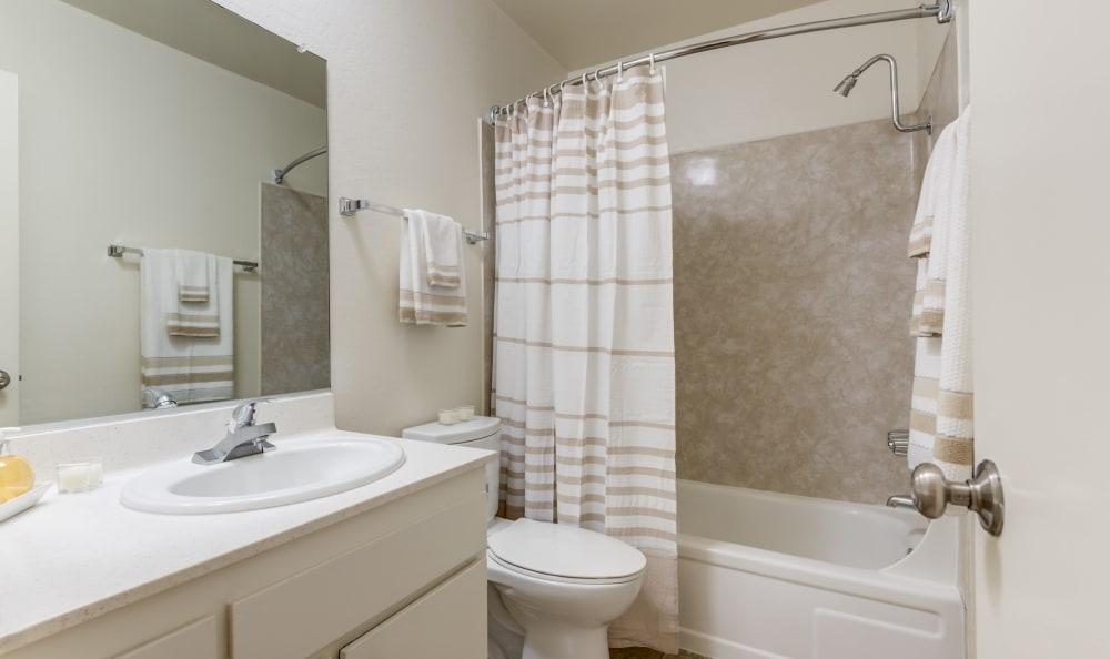 White bathroom at The Newporter in Tarzana, California