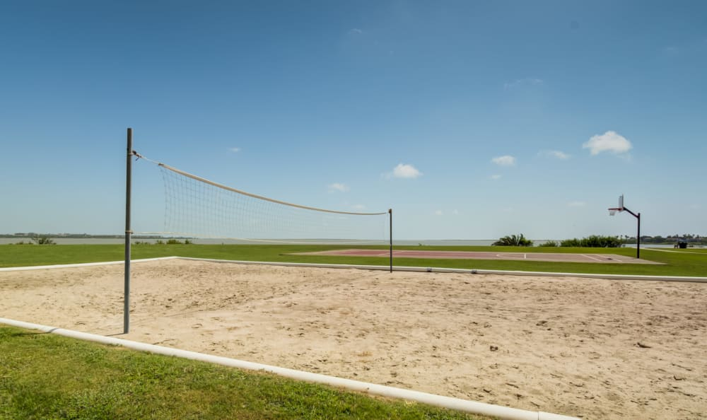 Volleyball court at Apartments in Corpus Christi, Texas