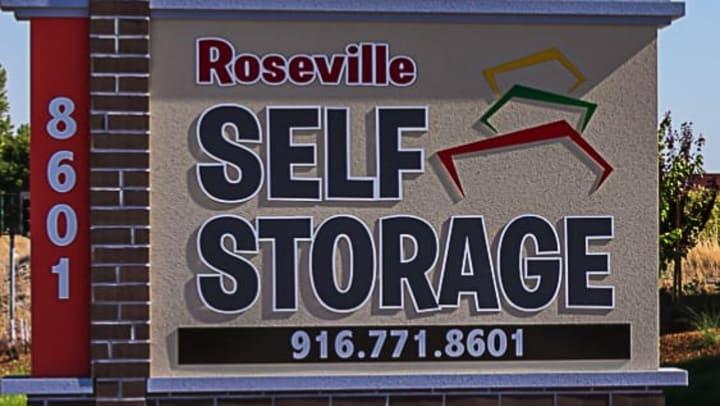 Roseville Self Storage Sign