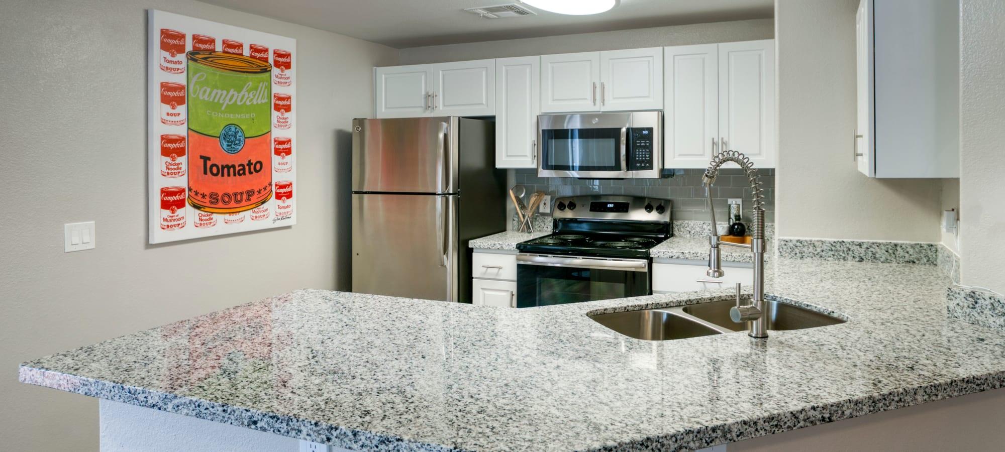 Modern Kitchen at Waterside at Ocotillo
