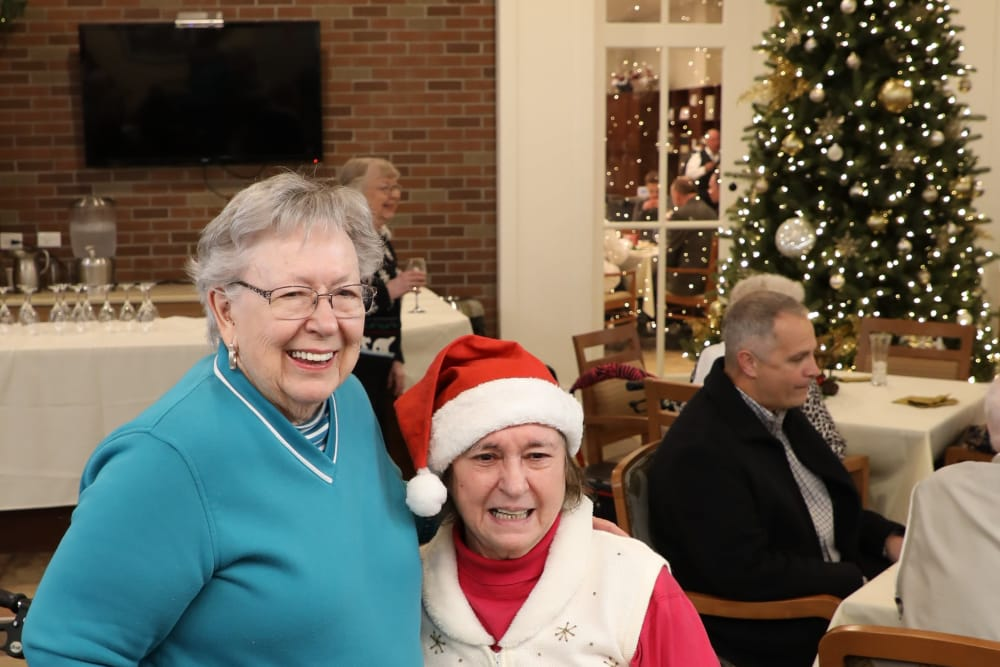 Residents having fun at the Madison holiday open house