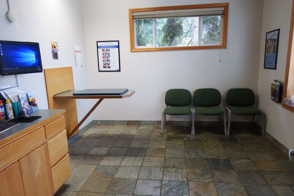 Exam room at Angeles Clinic For Animals in Port Angeles, Washington