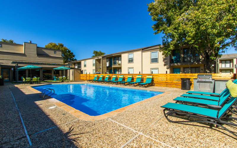 Swimming pool at Sausalito Apartments in College Station, Texas