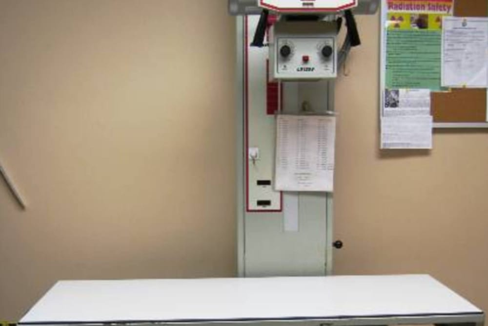 Radiology equipment at Niles Veterinary Clinic in Niles, Ohio