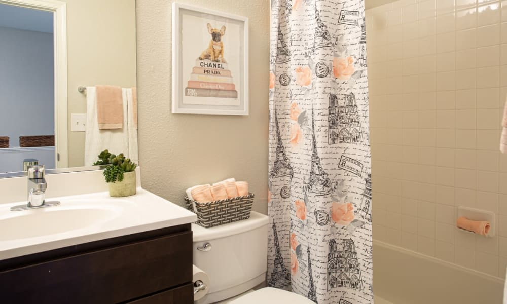 Bathroom at Villas at Greenview West in Great Mills, Maryland