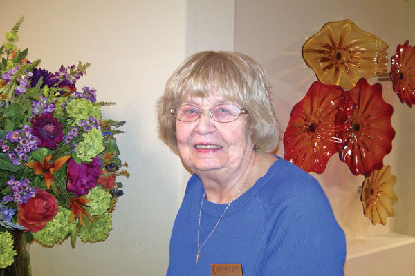 Marlene Manderson, a resident at Cedarview Gracious Retirement Living in Woodstock, Ontario