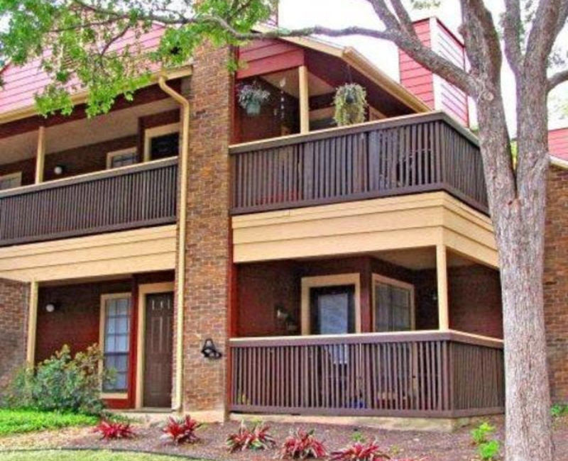 Residents have a private patio or balcony when living at Carmel at Deerfield in San Antonio, Texas
