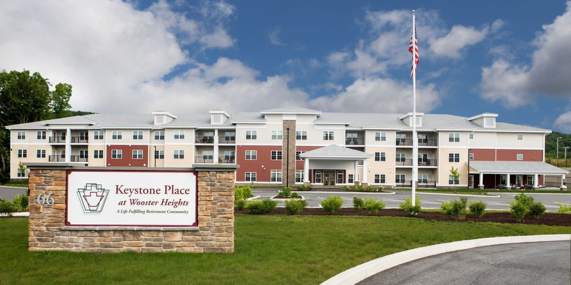 Rendering of Keystone Place at Wooster Heights in Danbury, Connecticut.