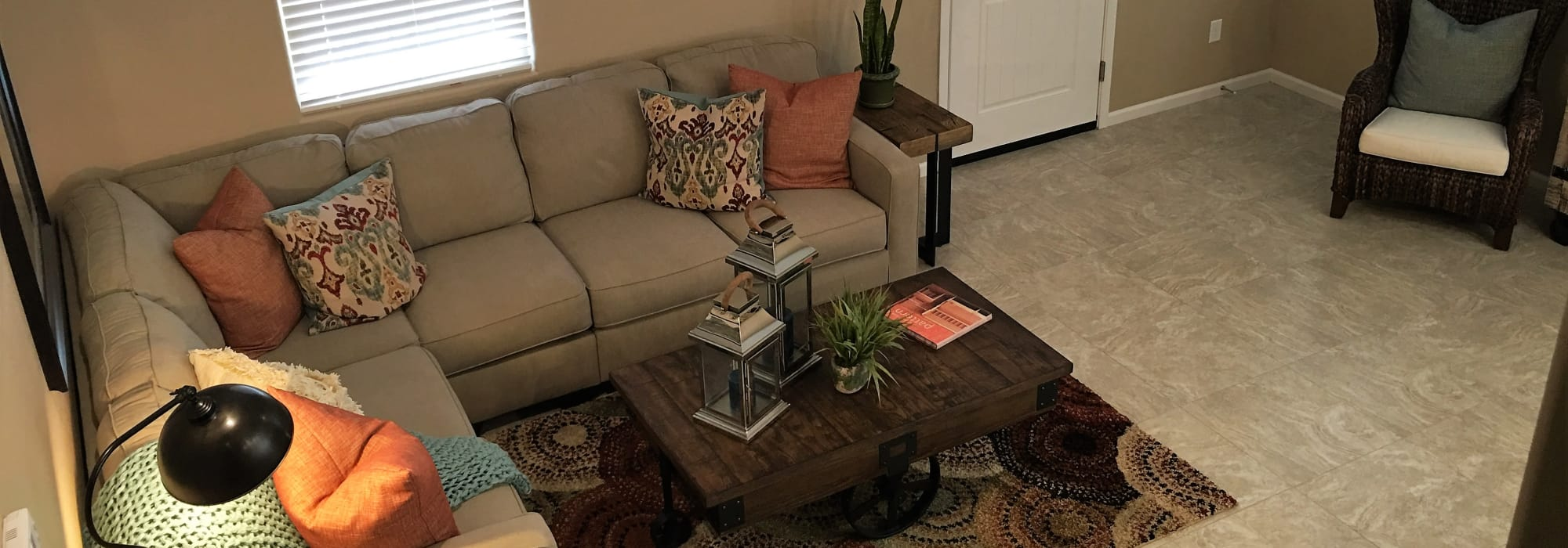 Luxury living room at BB Living at Vistancia in Peoria, Arizona