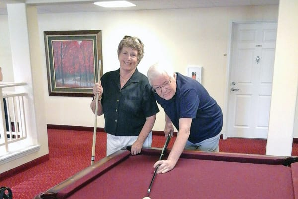 Payton Davies and Bob at Desert Springs Gracious Retirement Living in Oro Valley, Arizona