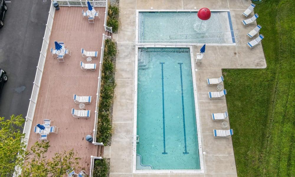 Swimming Pool at Strafford Station Apartments in Wayne, Pennsylvania