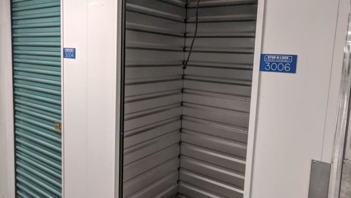 The inside of an interior storage unit at STOR-N-LOCK Self Storage