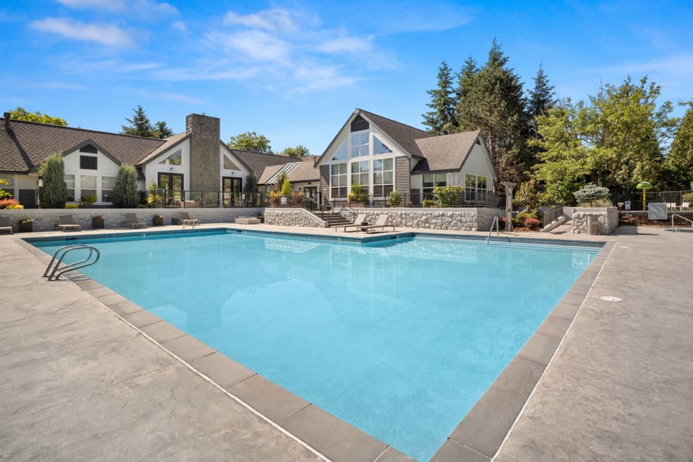 Resort-style swimming pool at Centro Apartment Homes in Hillsboro, Oregon
