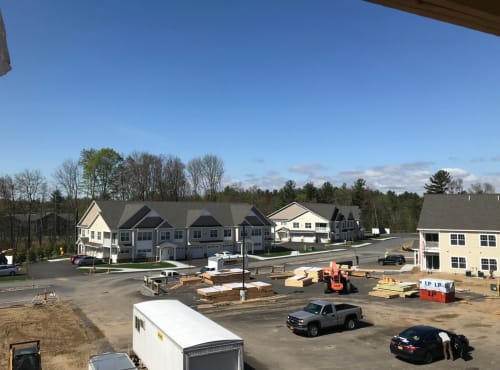 Construction progress of Enclave 50 in Ballston Spa, New York
