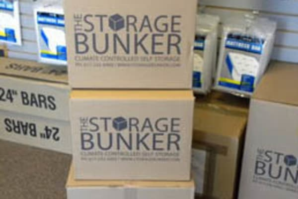 Packing supplies at The Storage Bunker in Medford, Massachusetts