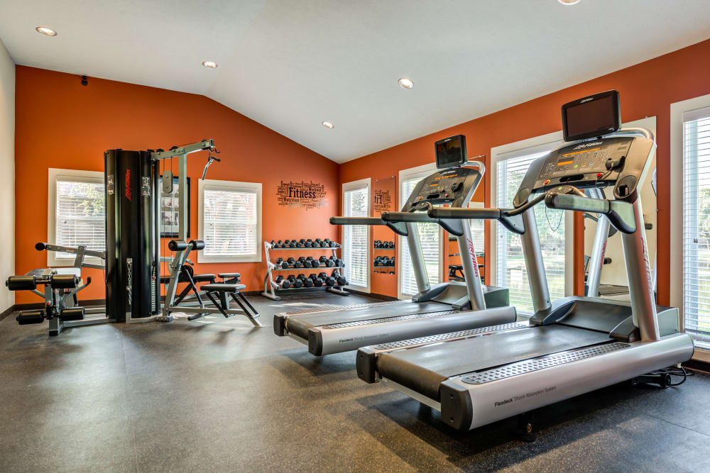 Exercise facility at apartments in Greenwood, IN