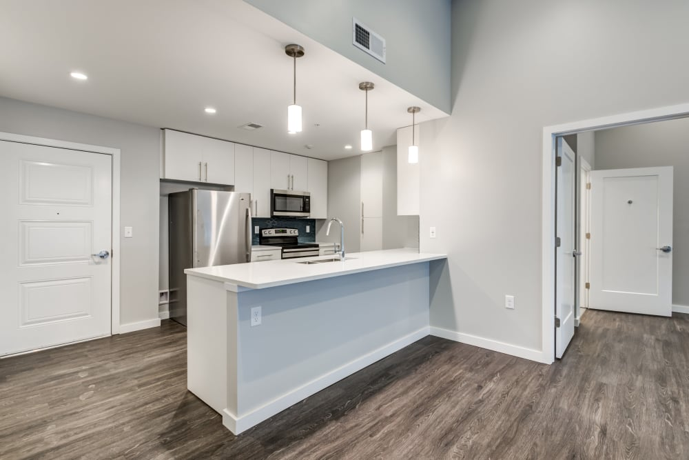 2 bedroom open kitchen at The Forge in Buffalo, New York