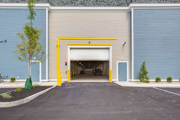 Entrance to drive up unloading zone at North Reading Storage Solutions